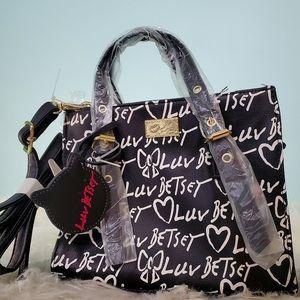NWT Betsey Johnson graffiti purse crossbody